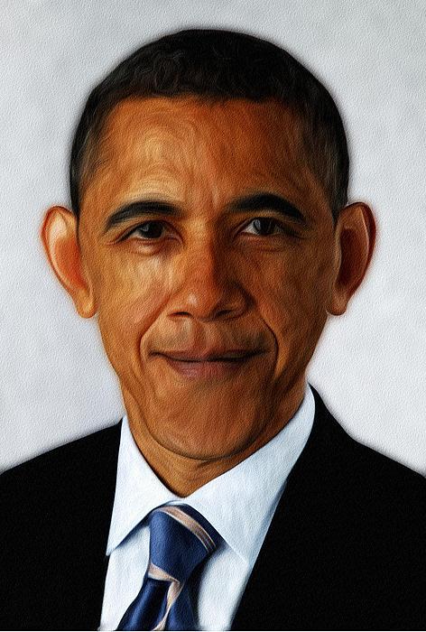 Barack Obama Print by Digital Reproductions