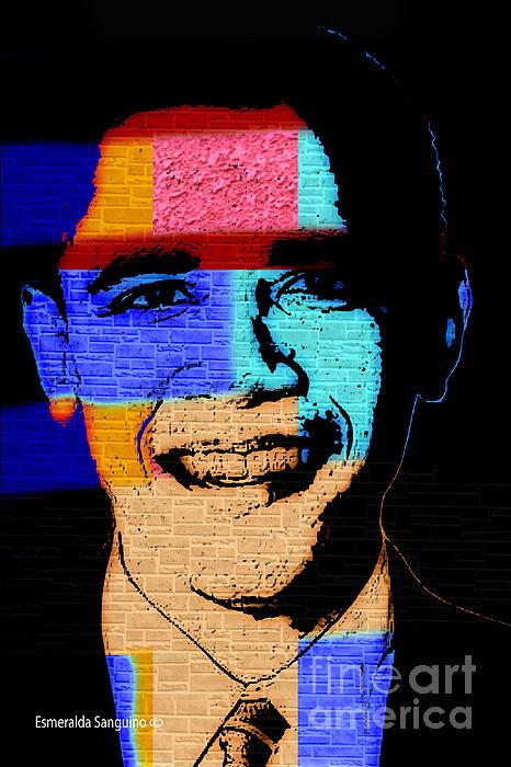 Barack Obama Print by Esmeralda  Sanguino