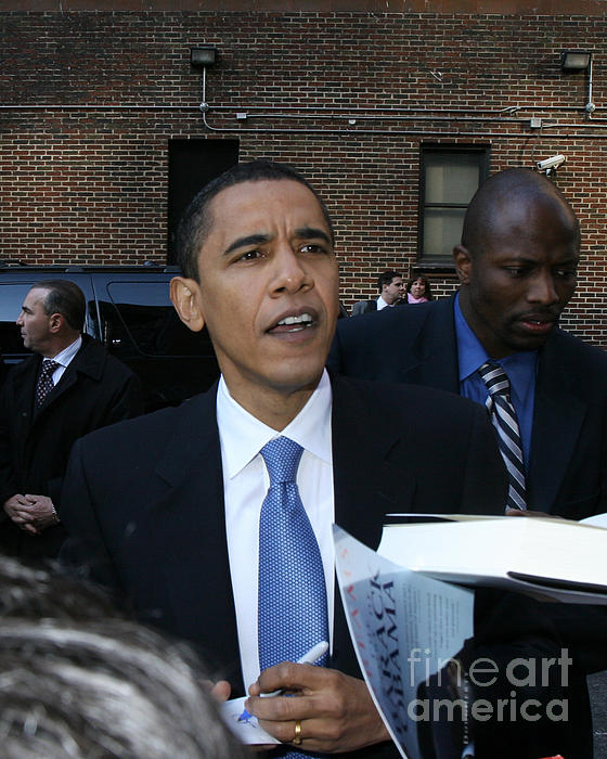Barack Obama Nyc 4-9-07 Print by Patrick Morgan