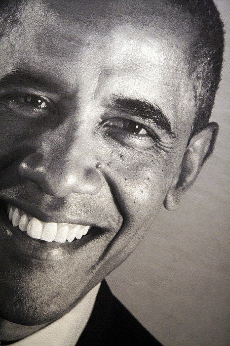 Barack Obama Up Close Print by Cora Wandel