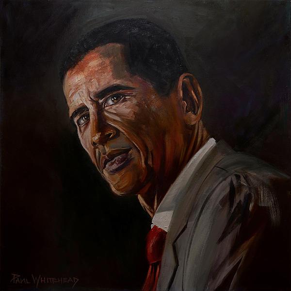 Barak Obama Print by Paul Whitehead