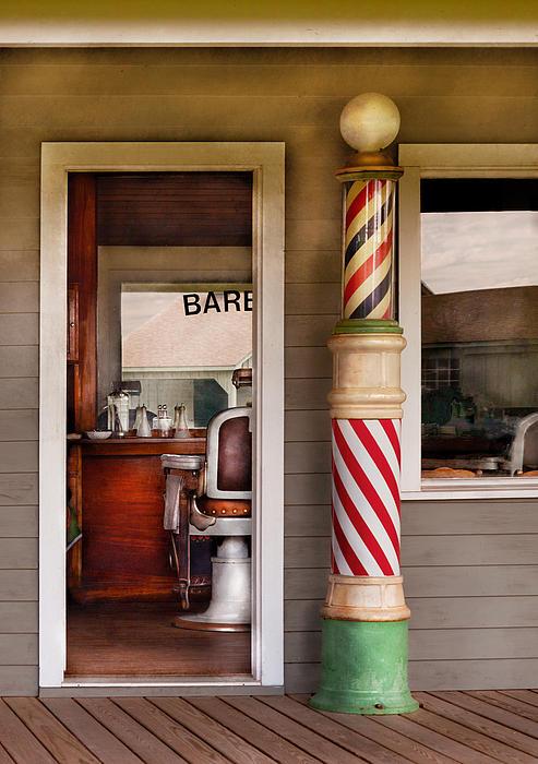Barber - I Need A Hair Cut Print by Mike Savad