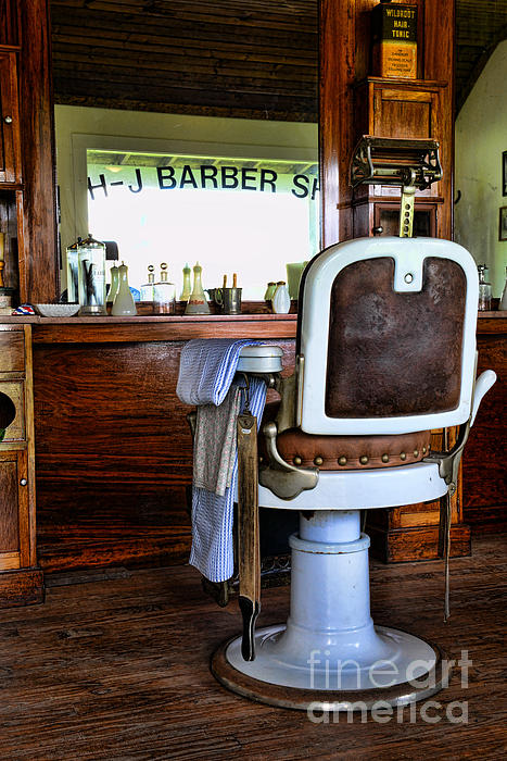 Barber - The Barber Shop Print by Paul Ward