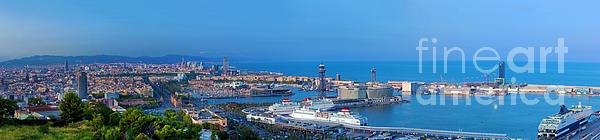Barcelona Panorama Print by Michal Bednarek