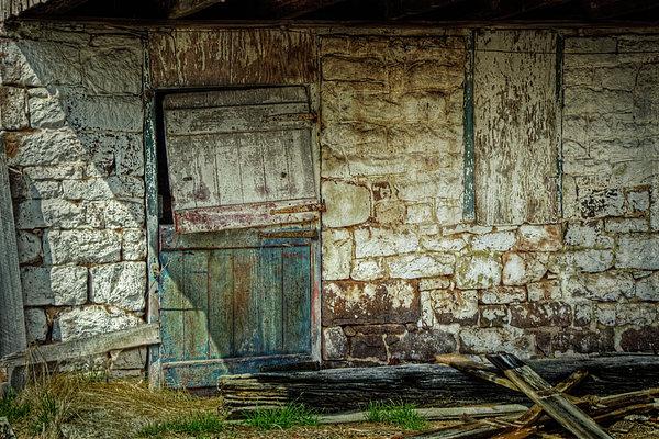 Barn Door Print by Joan Carroll