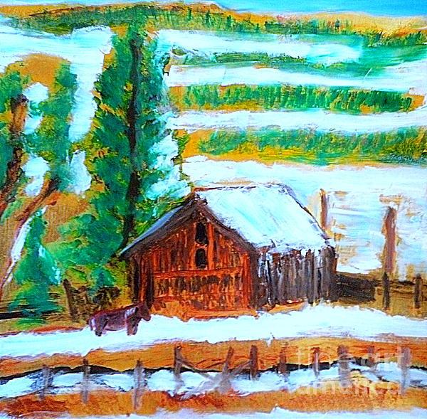 Barn Near Loa Utah 1 Print by Richard W Linford