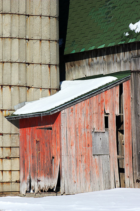 Barn Parts 12 Print by Mary Bedy