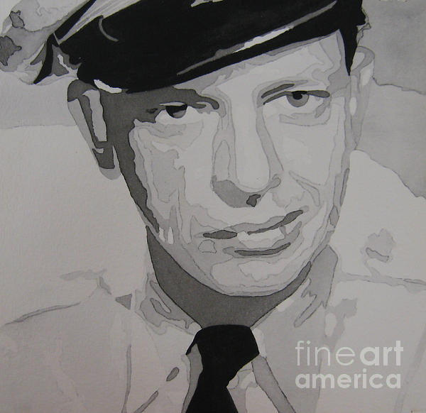Barney Fife Contrast Print by Jules Wagner
