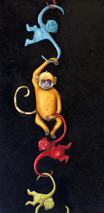Barrel Of Monkeys Print by Leah Saulnier The Painting Maniac