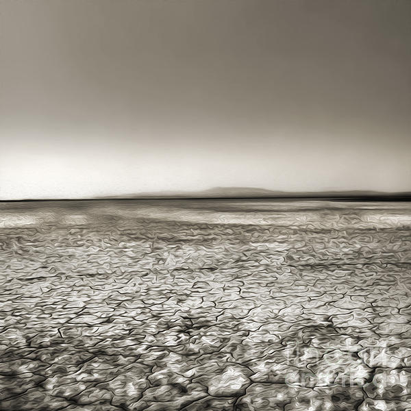 Barstow Dry Lake Bed  Print by Gregory Dyer