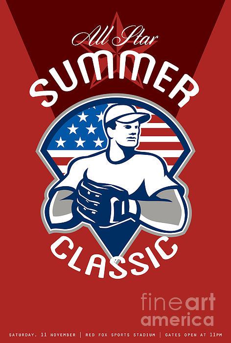 Baseball All Star Summer Classic Poster Print by Aloysius Patrimonio