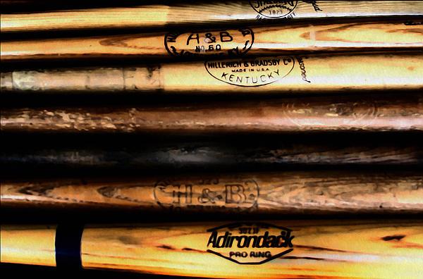 Baseball Bats Print by Bill Cannon
