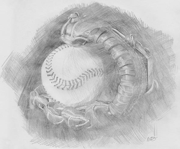 Baseball Glove Print by Michele Engling