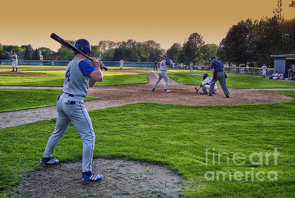 Baseball On Deck Circle Print by Thomas Woolworth