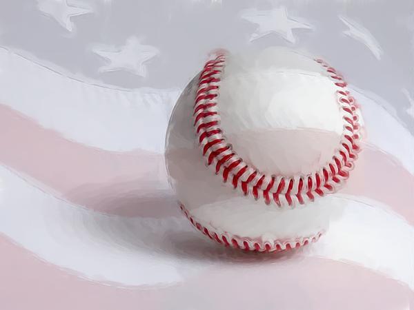 Baseball - Painterly Print by Heidi Smith