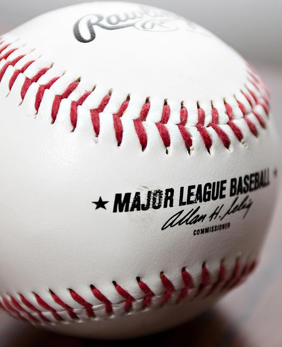 Baseball Print by Ricky Barnard