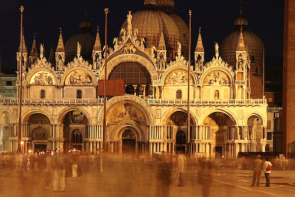 Basilica Di San Marco Print by George Buxbaum