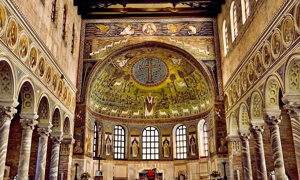 Basilica Di Sant'apollinare Nuovo - Ravenna Italy Print by Jon Berghoff