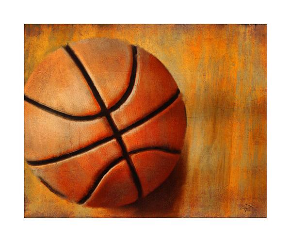 Basket Ball Print by Craig Tinder