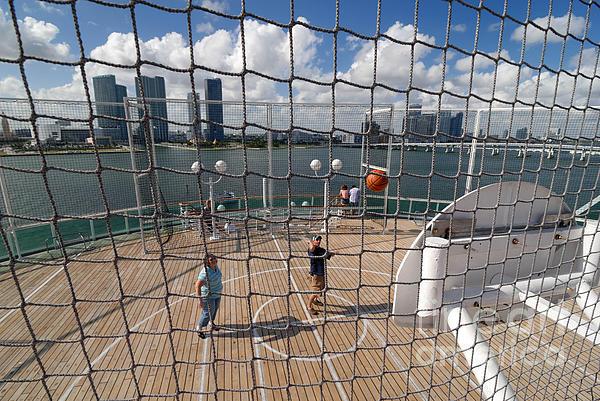 Basketball Court On Cruise Ship Print by Amy Cicconi