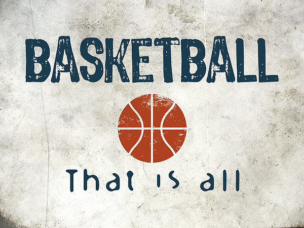Basketball That Is All Print by Flo Karp
