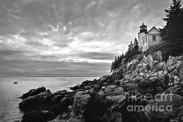 Bass Harbor Lighthouse At Dusk Print by Diane Diederich