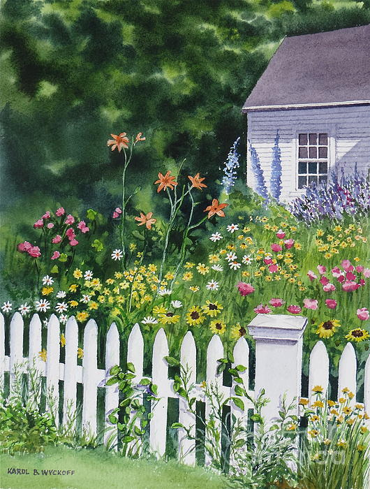 Bass River Cottage Print by Karol Wyckoff
