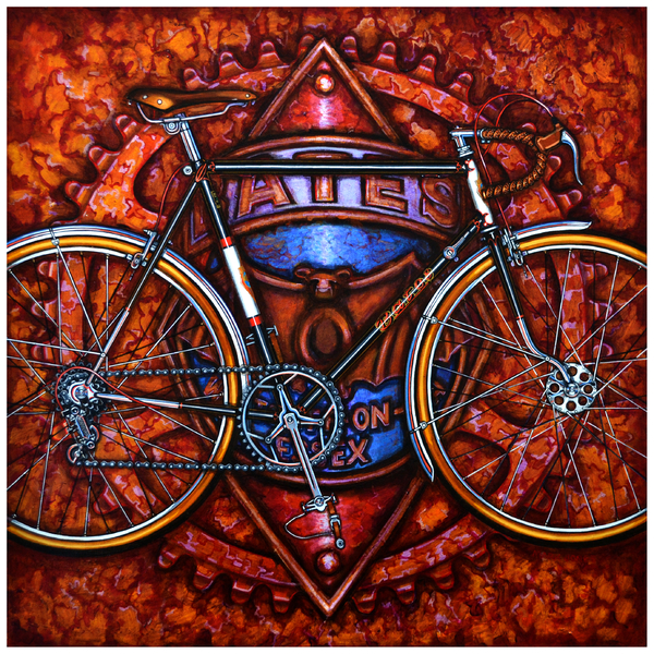 Bates Bicycle Print by Mark Howard Jones
