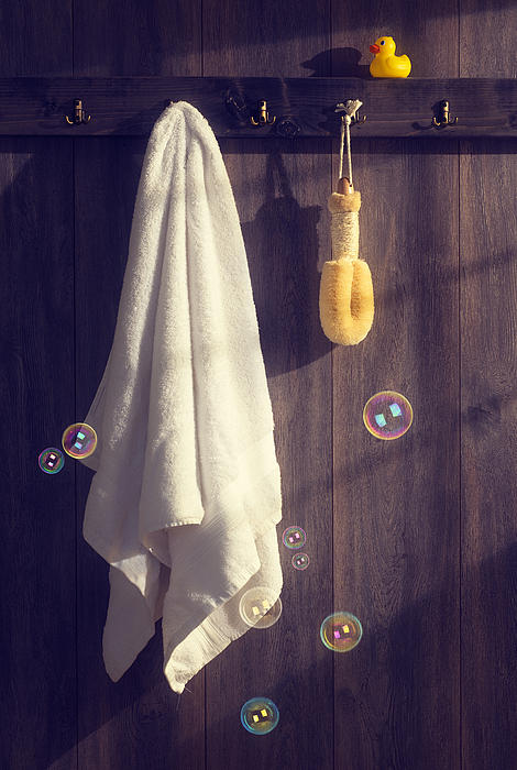 Bathroom Towel Print by Amanda And Christopher Elwell