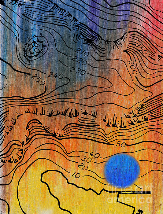 Bathymetry Print by R Kyllo
