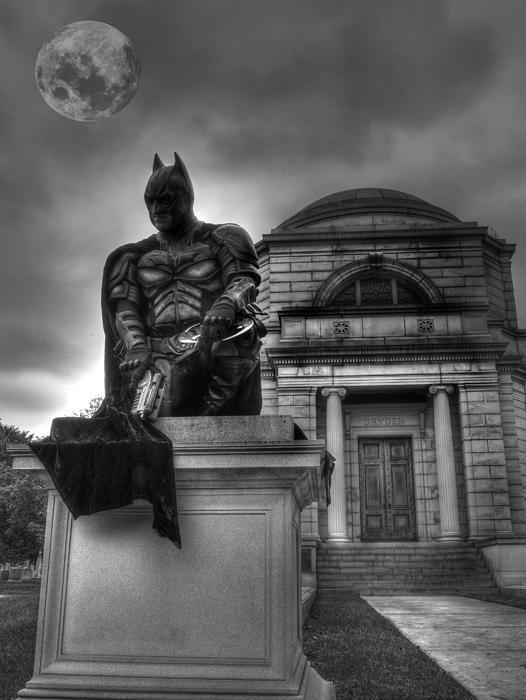 Batman - The Dark Night Forever Lost Print by Lee Dos Santos
