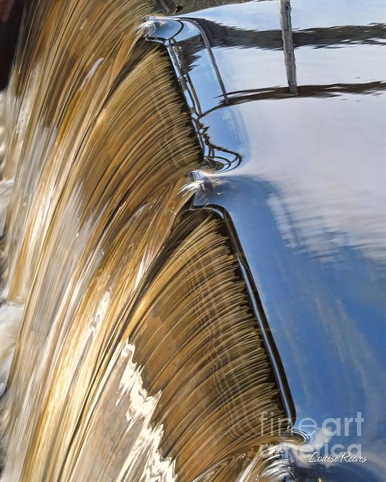 Batsto Waterfall Print by Louise Reeves