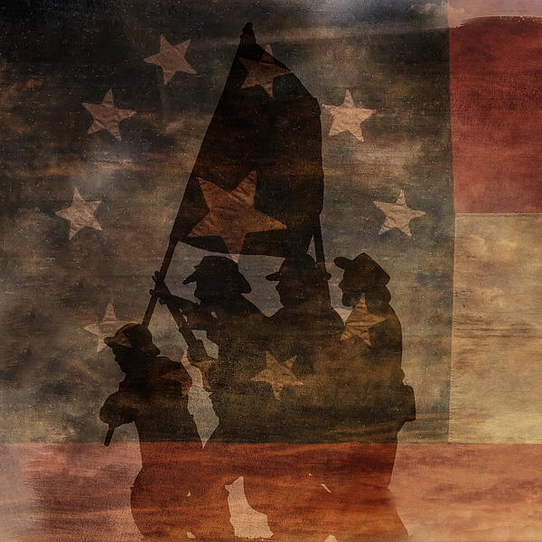 Battle Flag Silhouette 1st Of Three Print by Randy Steele