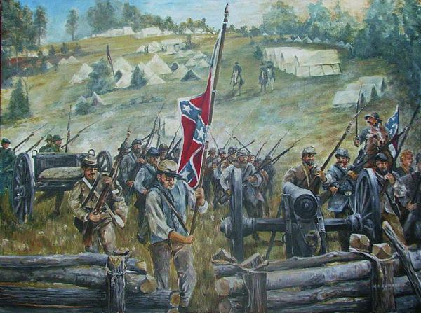 Battle Of Chancellorsville Picture Painting