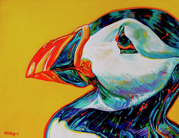 Bay Bulls Puffin Painting