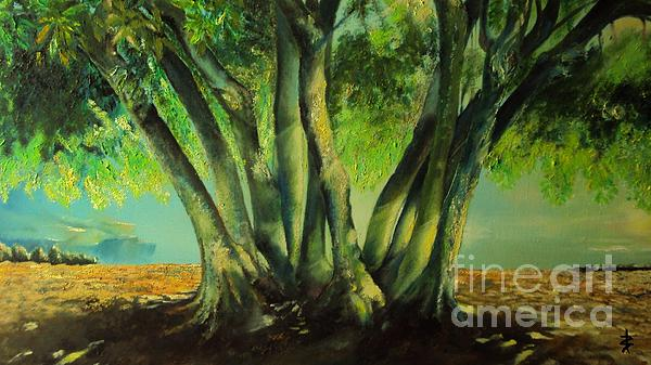Bay Leaves Tree Print by Alessandra Andrisani