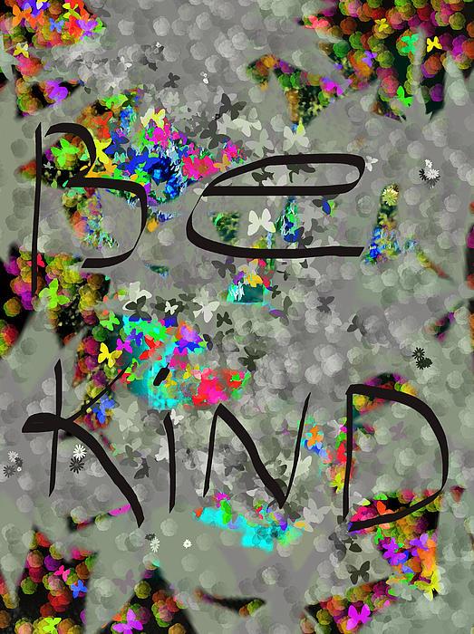 Be Kind Print by Patricia Januszkiewicz
