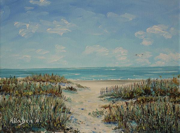 Beach Access Print by Stanton Allaben