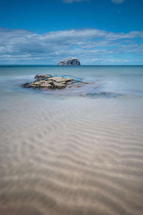 Beach At Bass Rock Print by Keith Thorburn