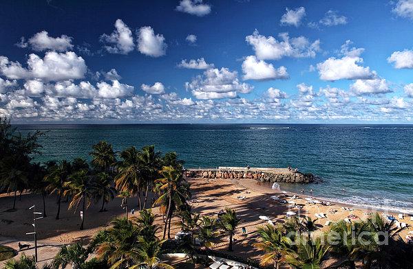 Beach Day At San Juan Print by John Rizzuto