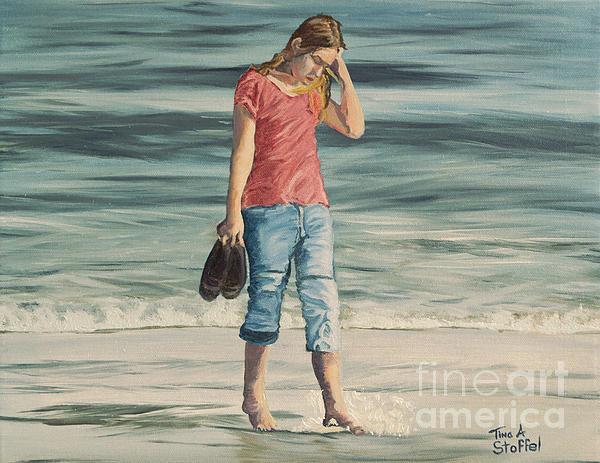 Beach Dreams Print by Tina A Stoffel