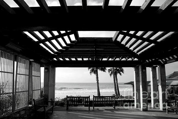 Beach In Del Mar California Print by Julia Hiebaum