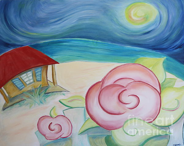 Beach Rose Print by Teresa Hutto