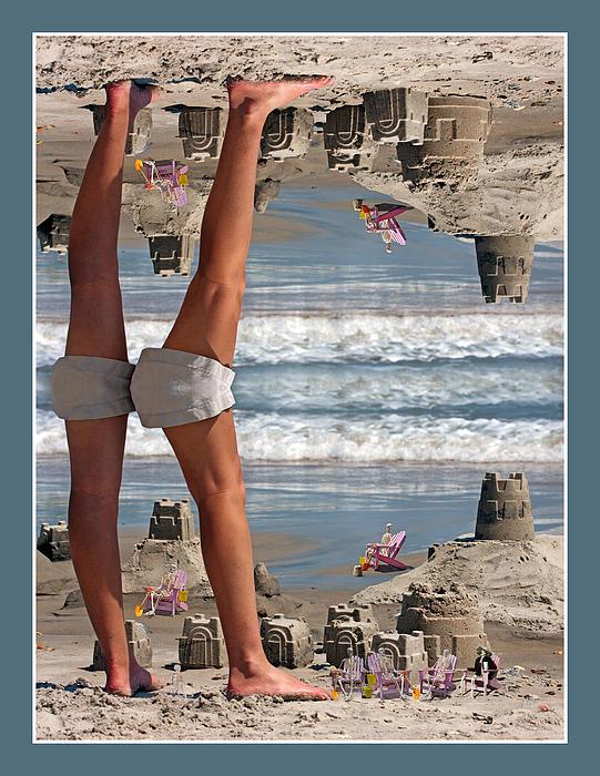 Beach Scene Print by Betsy C  Knapp