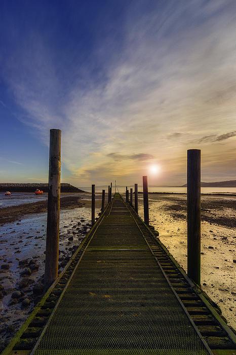 Beach Sunrise V2 Print by Ian Mitchell