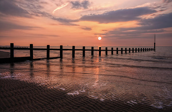 Beach Sunset Print by Ian Mitchell