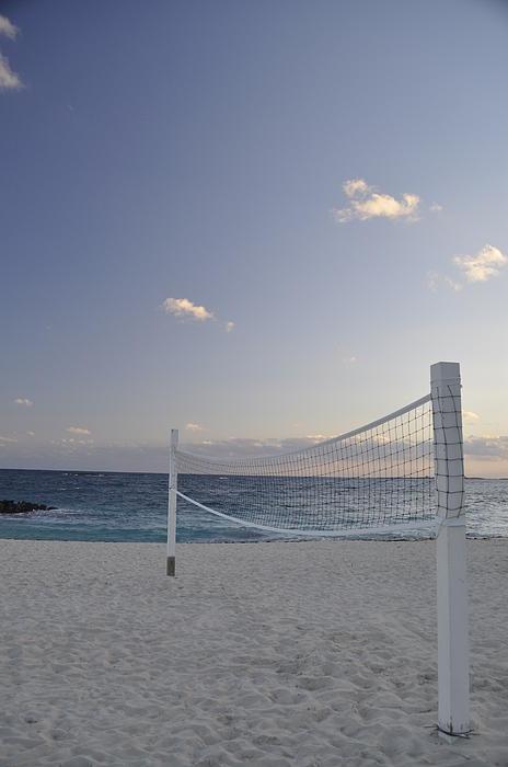 Beach Volleyball Print by A R Williams
