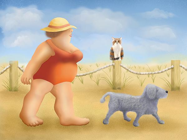 Beach Walk Print by Marlene Watson