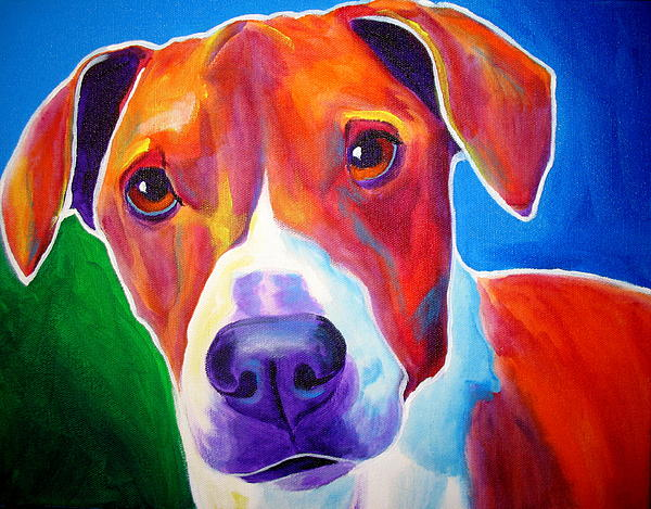 Beagle - Copper Print by Alicia VanNoy Call