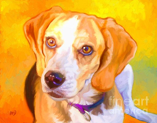 Beagle Dog Art Print by Iain McDonald